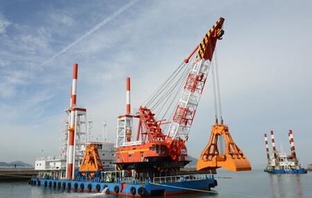 Hybrid Grab Dredging Crane
