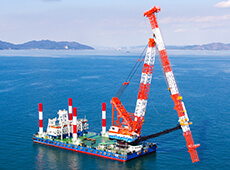 600t Lifting Crane with Pile Drive Leader