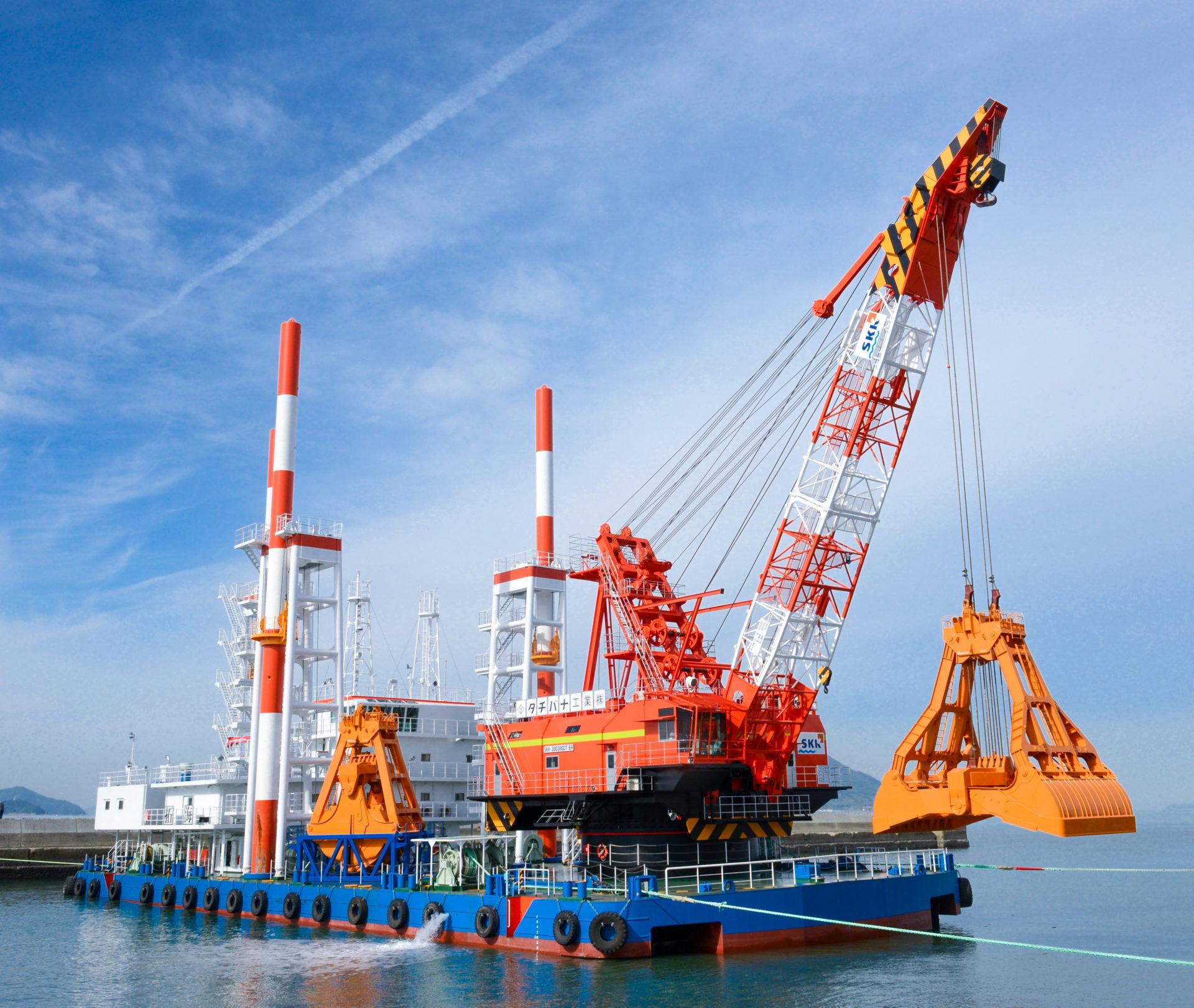 GDT-EH Series / Hybrid System Grab Dredging Crane