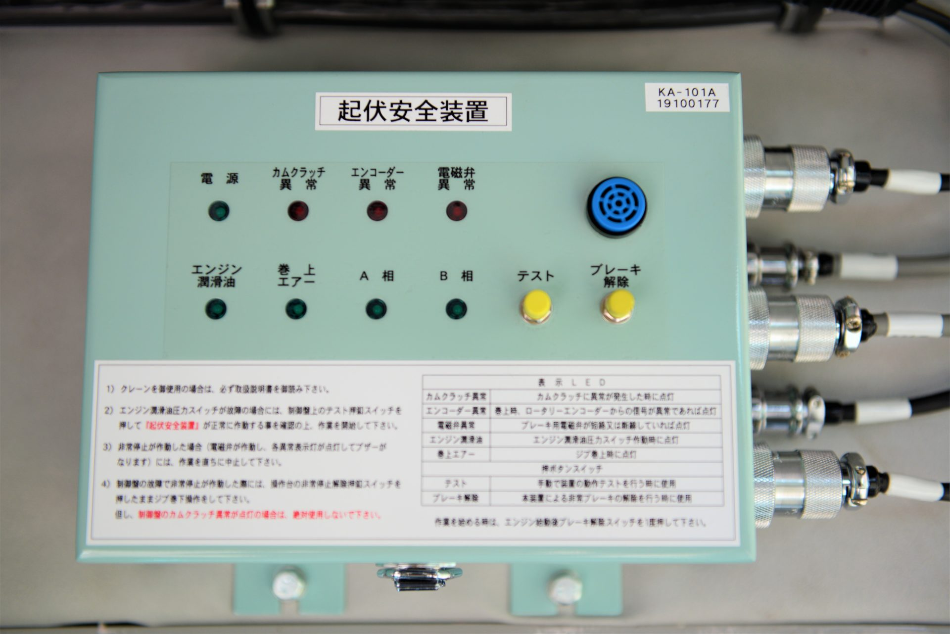 Alarm and Automatic Stop Device to Protect the Working Safety