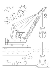 SKK浚渫船のぬりえ